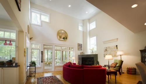 Carrboro Cottage living panorama