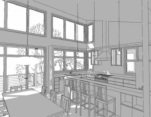 Lake Gaston Retreat kitchen drawing