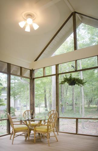Carrboro Cottage screened porch