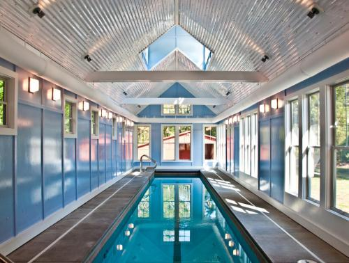 Durham Pool House interior