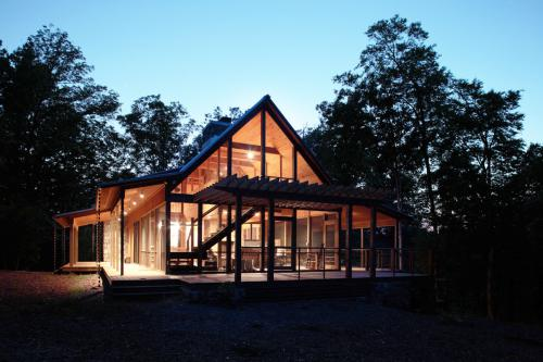 Haw River Retreat at dusk