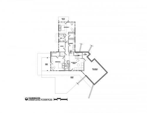 Meadow View Residence lower level floor plan
