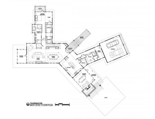 Meadow View Residence main level floor plan