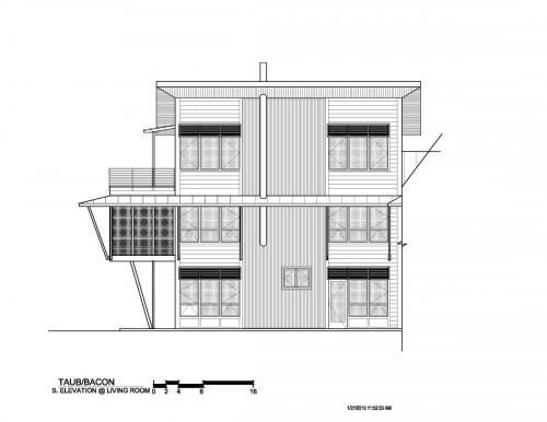 Meadow View Residence south elevation
