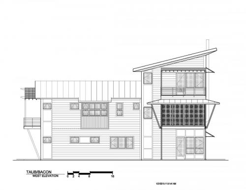 Meadow View Residence west elevation
