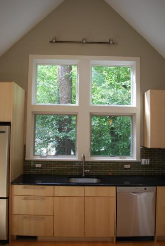 Thrall Residence kitchen window