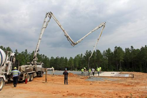 Halifax County pumping concrete