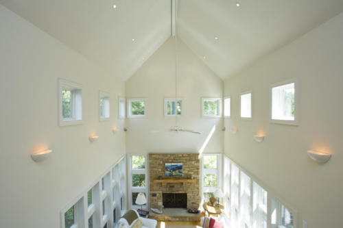 Across the Pond vaulted ceiling